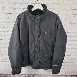 Columbia Black Insulated Fur Trim Puffer Jacket